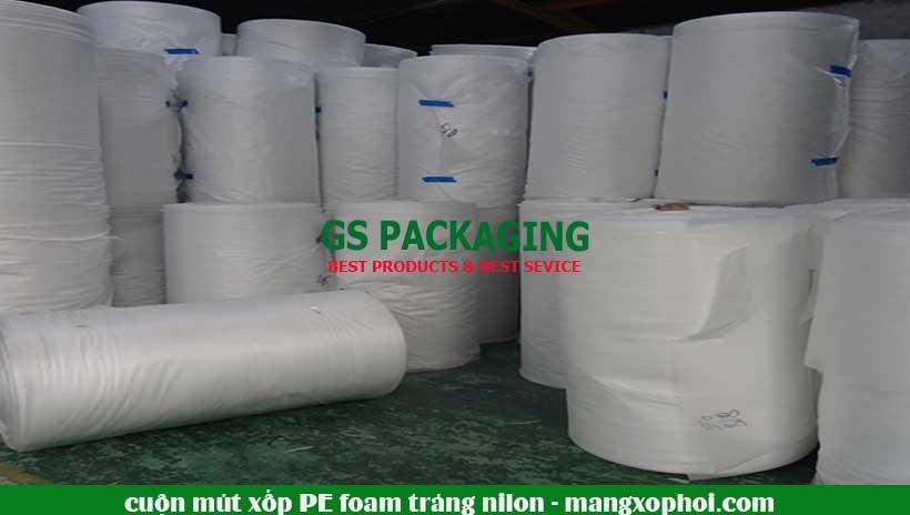 Cuộn mút xốp PE Foam tráng nilon