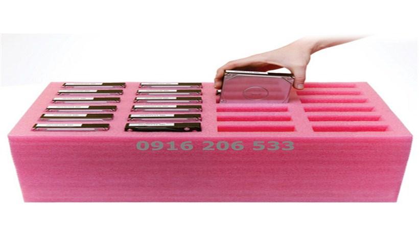 Hộp xốp Pe Foam tĩnh điện màu hồng