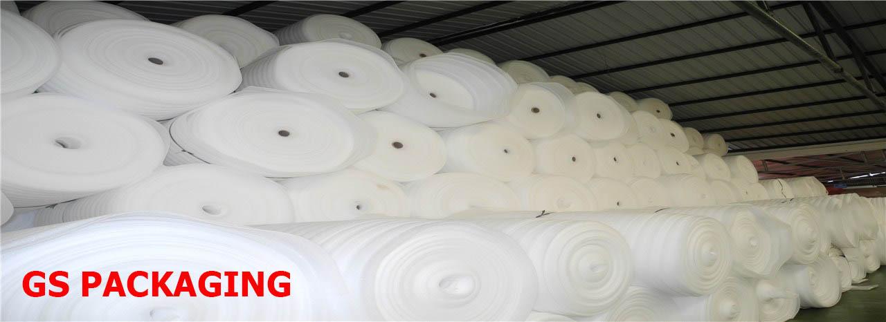Cuộn mút xốp PE Foam màu trắng