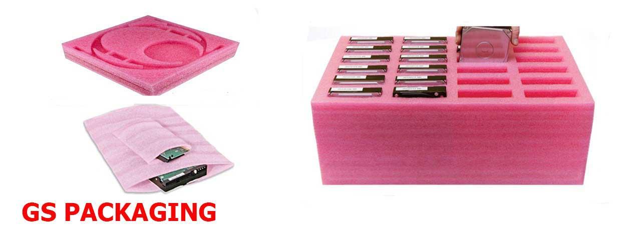 PE Foam chống tĩnh điện màu hồng