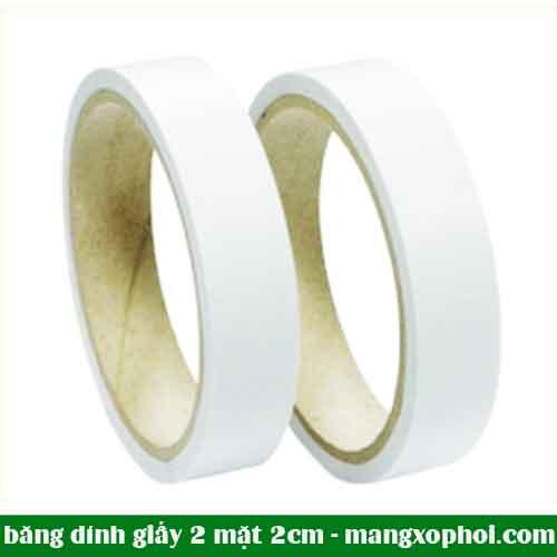 Cuộn băng dính giấy 2 mặt 2cm