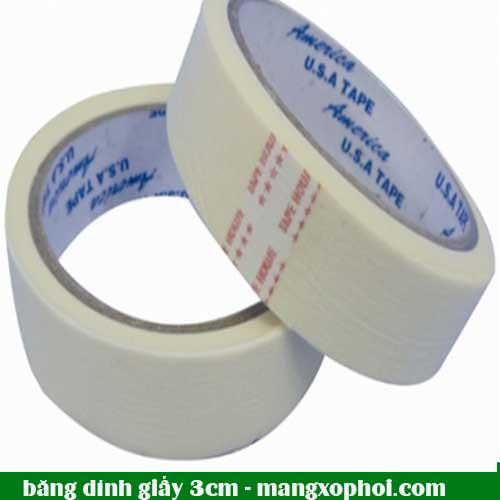 Cuộn băng dính giấy 3cm