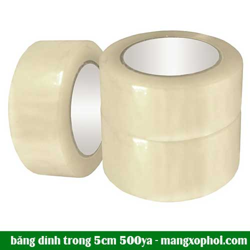 cuộn băng dính trong 5cm 500ya
