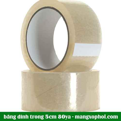 Cuộn băng dính trong 5cm 80Ya