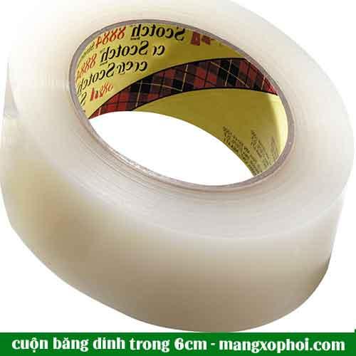 cuộn băng dính trong 6cm