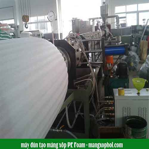 Quy trình sản xuất vận hành máy tạo mút xốp PE Foam