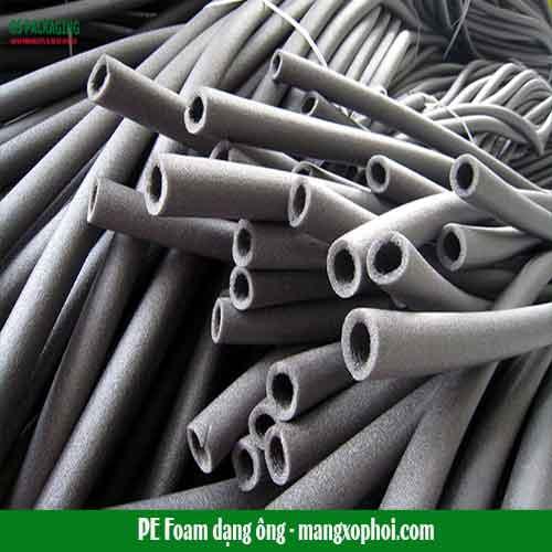 sản xuất ống xốp PE Foam màu đen nấu trắng bảo ôn cách nhiệt