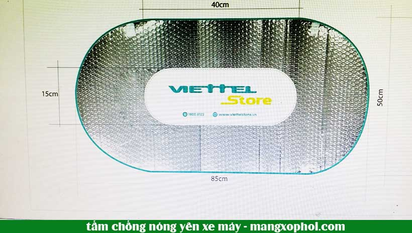 Thiết kế tấm chống nóng yêu xe máy cho cửa hàng Viettel